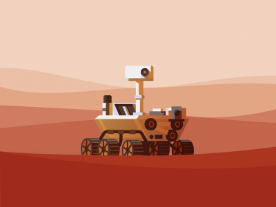 Perseverance rover nasa space illustration vector