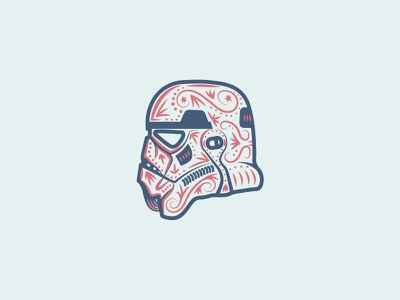 Stormtrooper helmet vector illustration star wars stormtrooper