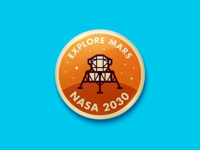 Explore Mars Button science explore space nasa lander button mars