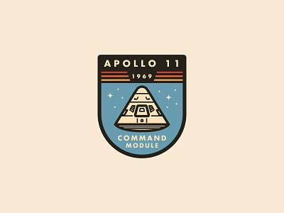 Apollo Command Module Badge vector illustration lunar badge nasa space apollo