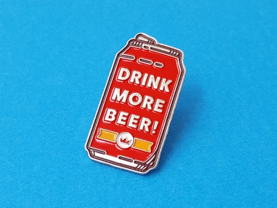 Drink More Beer Pin drink lapel vector beer enamel pin pin