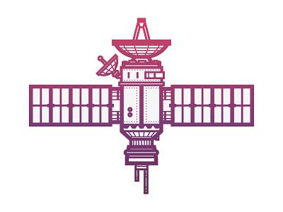Satellite vector space illustration satellite