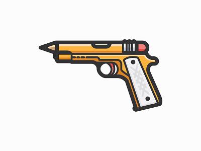 Pencil Gun vector pistol gun pencil