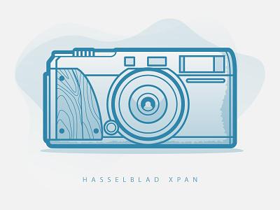 Hasselblad XPan 35mm illustration hasselblad vector film camera