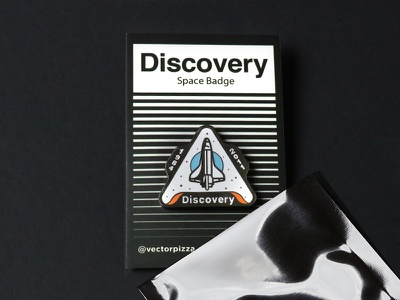 Discovery Badge Pin stars badge space shuttle nasa lapel pin pin discovery