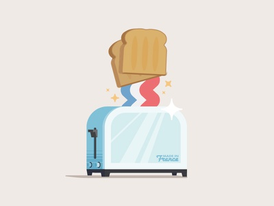 """""""French Toast"""" illustration vector toaster toast french"""