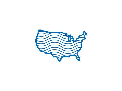 Merica country mark logo icon america