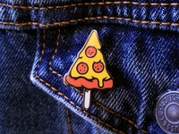 Pizza on a Stick Lapel Pin
