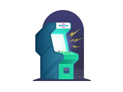Arcade glow arcade vector illustration