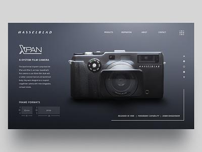 Hasselblad Xpan Landing Page film ux ui website camera xpan