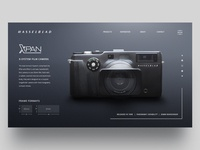 Hasselblad Xpan Landing Page