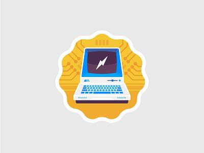 Digital Citizen Badge vintage computer icon badge illustration vector