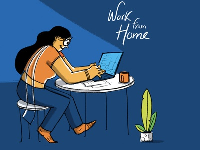 Work from Home animation branding motion graphics illustration design