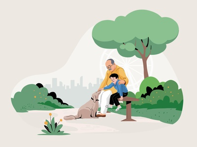 Generation marketing campaign ui branding illustration design
