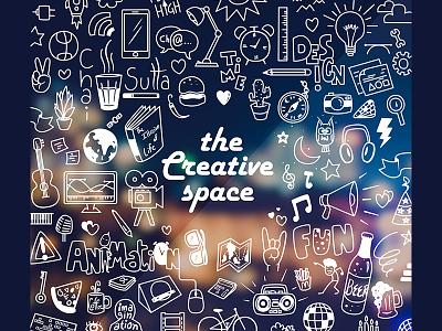 Doodle Art - Creative space graphic design animation fun glass illustration zone creative doodle