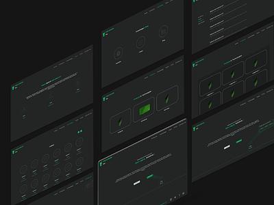 Instruments Inc - Web UI minimal ui minimal color flat color desktop ui web ui neon green neon ui