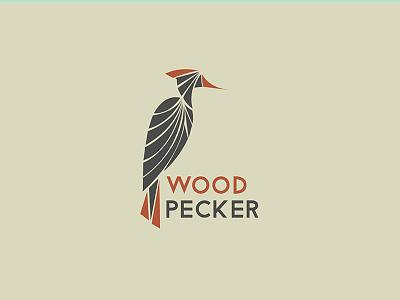 Wood Pecker Logo wood pecker branding logo design india nature logo bird