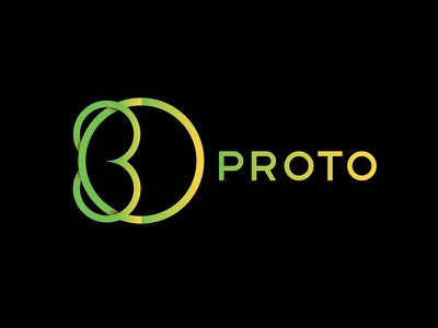 3D Proto - Fashion Logo Concept elegant elegant logo classy logo classy yellow green gradient logo gradient gradients minimal logo design logo