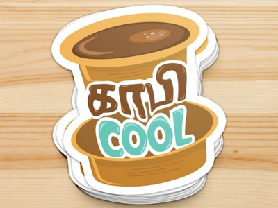 Kaafi Cool Tamil Sticker Merch Design merchandise merch sticker branding multilingual tamil indian india