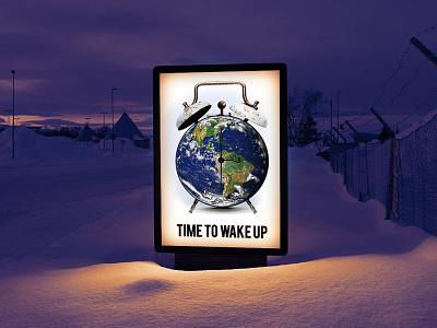 Global Warm(n)ing poster 1 poster world global earth alarm heat global warming