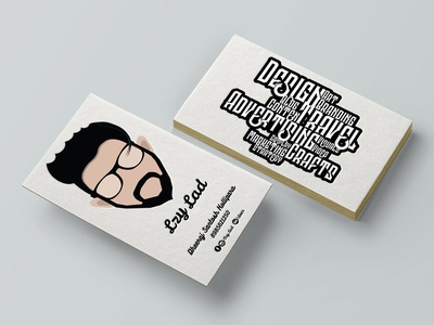 Business Card Design - Lzy Lad brand identity design brand identity logo design logo india consultant lzy lad personal business card personal branding branding brand business card design business card