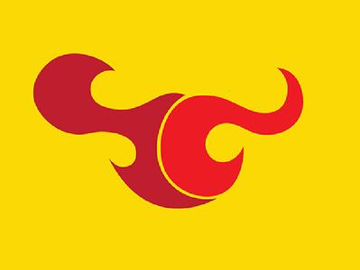 Taurus - Minimal Logo - Redbull Logo Redesign Concept indian logo flat branding brand identity illustration india redbull bull logo minimal bull bull minimal logo minimal yellow red