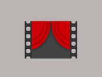 Movie+Curtain Minimal Logo