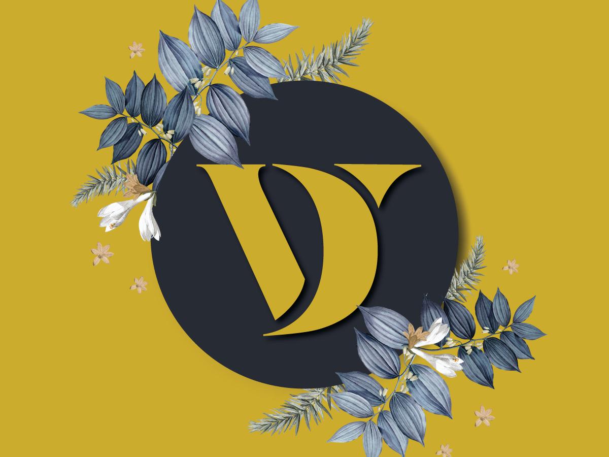 Wedding Branding Monogram V&D v1 type logo v logo wedding logo indian wedding indian wedding monogram elegant classy wedding app v typography monogram wedding branding branding wedding