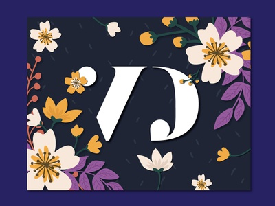Wedding Branding Monogram V&D v2 floral elegant classy typography wedding monogram monogram logo wedding logo wedding branding india wedding branding wedding