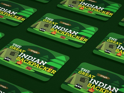 Business Card Design - The Great Indian Back Packer travel logo travel business card travel branding travel backpacker adventure startup business card adventure business card visiting card design business card design business card