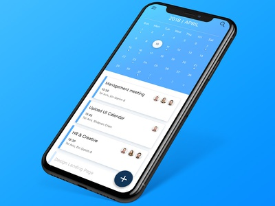 Calendar App Design Concept design ios iphone x blue concept redesign figma ux ui calendar