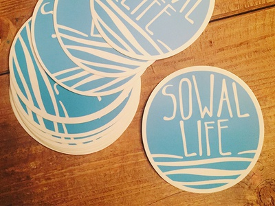 Sowal Life - Branding icon typography illustration clothing brand branding beach design