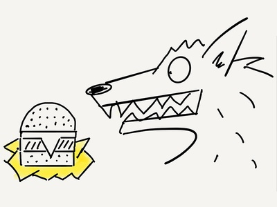Ready for the weekend! doodle werewolf cheeseburger weekend