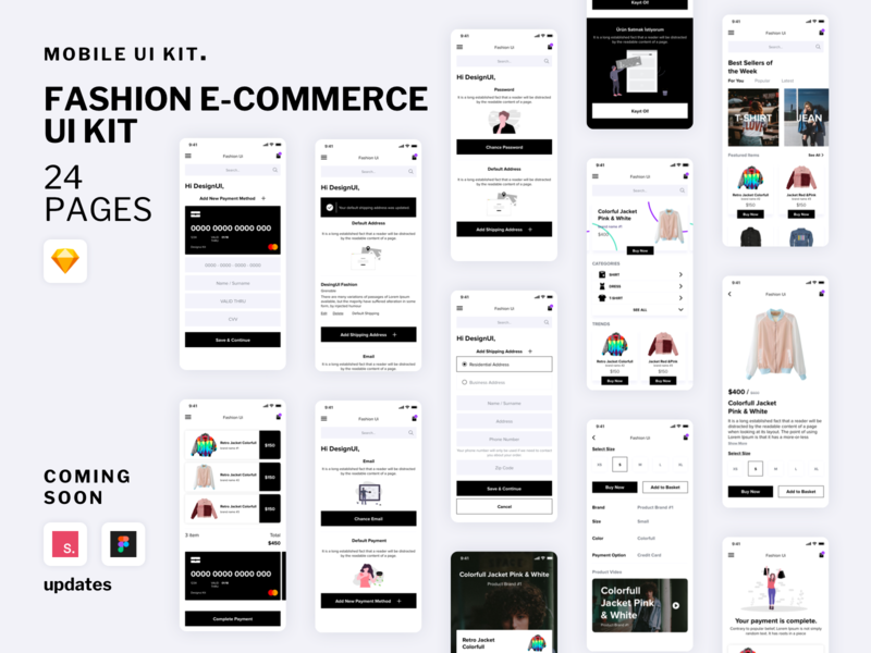 Fashion E-Commerce UI Kit