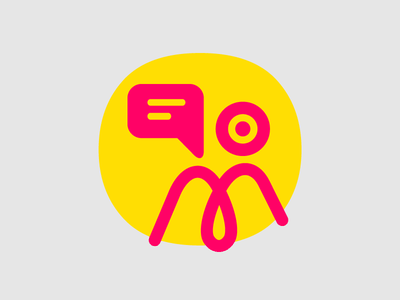 Video Conference Tool red yellow wip svg illustration illustrator icon