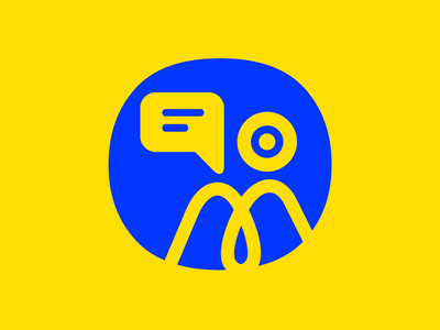 Video Conference Tool (invers) ikblue yellow wip svg illustrator illustration icon