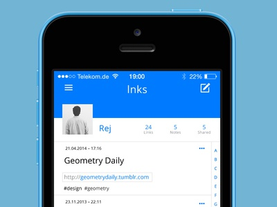 lnks — profile list view /square