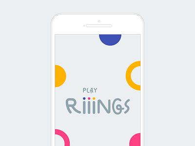 play Riiings app launch casual game app mobile branding ios wip