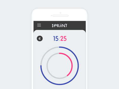 Spriint — a timer app android ios app mobile timer webapp branding ui wip