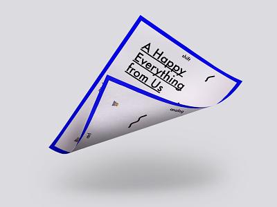 A Happy Everything from Us ios trendgenerator ikblue futura design card greetings