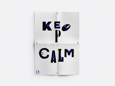 Poster analog x digital sketch illu typo dina4 keep calm ikblue poster