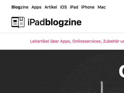 iPadblogzine System Font Logo