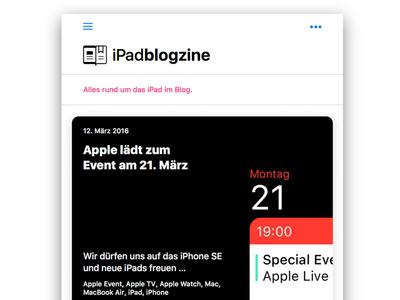 iPadblogzine Homepage Relaunch