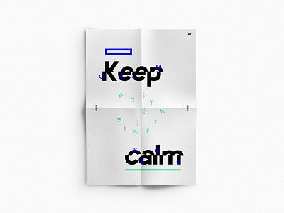 No. 2 poster series keep calm sketch illu typo dina4 poster keep calm ikblue