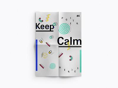No. 4 poster series keep calm sketch illu typo dina4 poster keep calm ikblue