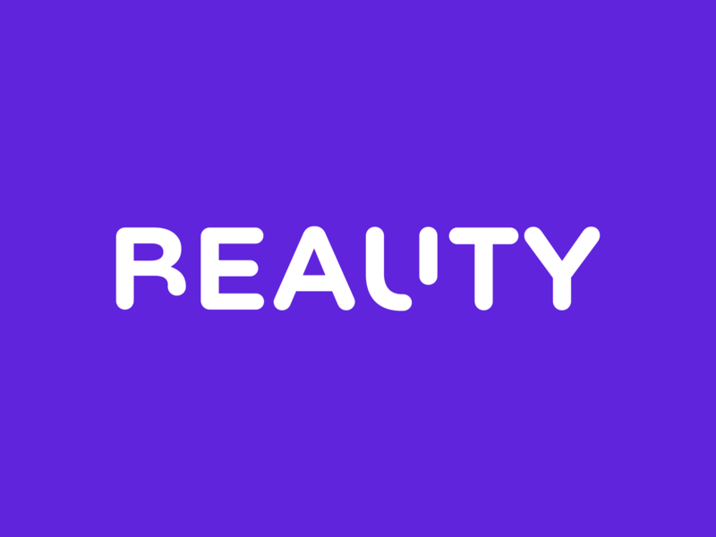 Beauty / Reality design simple type logo