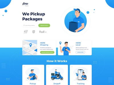 Website design for Shipping company delivery shipping clean corporate landing flat webdesign web design ux ui