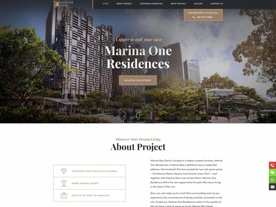 Website design for real estate realestate clean corporate landing flat webdesign web design ux ui