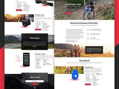 Corporate website for Swedish company tracker gps landing animation design webdesign web ux ui