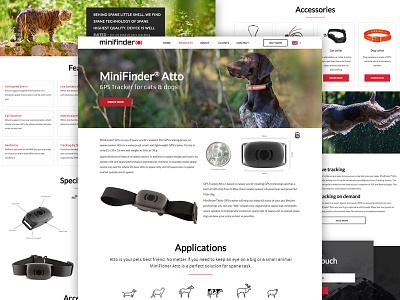 Product page design for Swedish company webdesign web ux ui tracker landing gps design animation